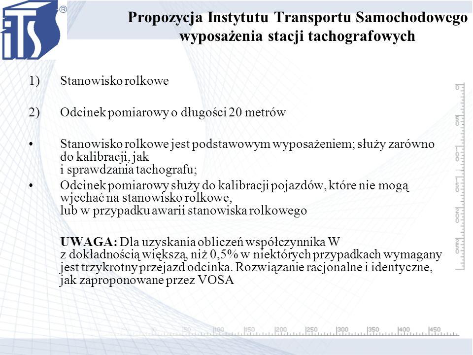 Propozycja Instytutu Transportu Samochodowego wyposażenia stacji tachografowych