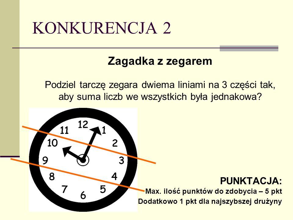 KONKURENCJA 2 Zagadka z zegarem
