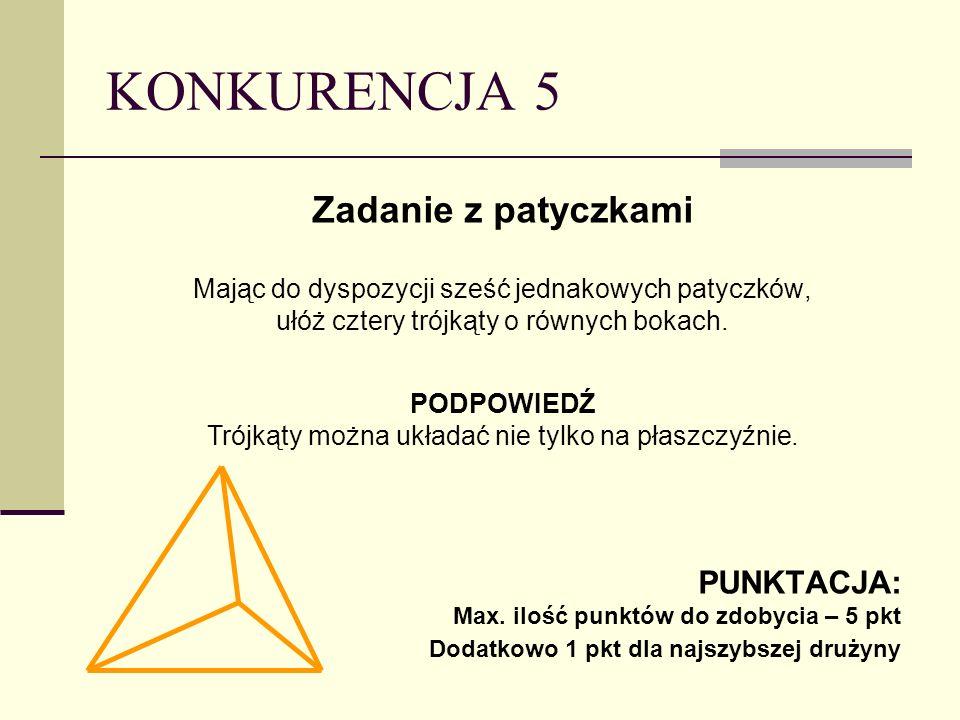 Trójkąty można układać nie tylko na płaszczyźnie.