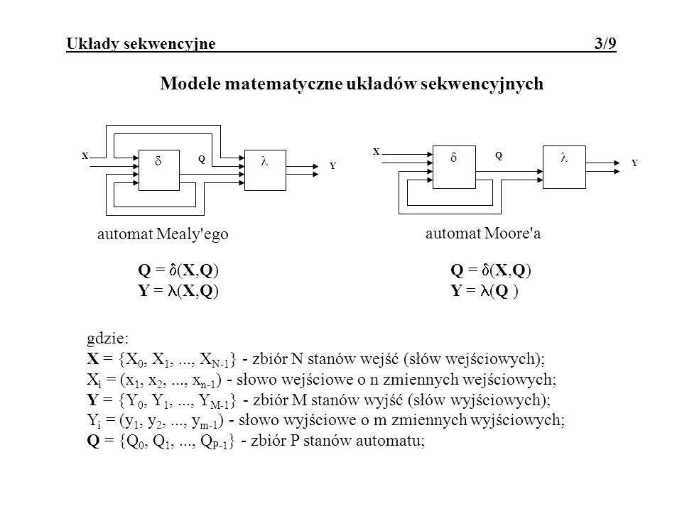 Modele matematyczne układów sekwencyjnych