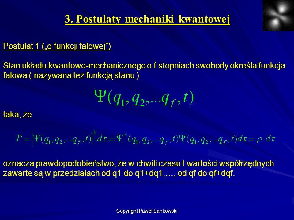 3. Postulaty mechaniki kwantowej