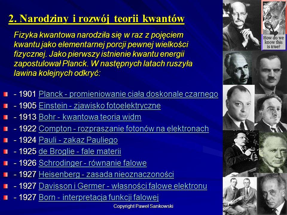 2. Narodziny i rozwój teorii kwantów