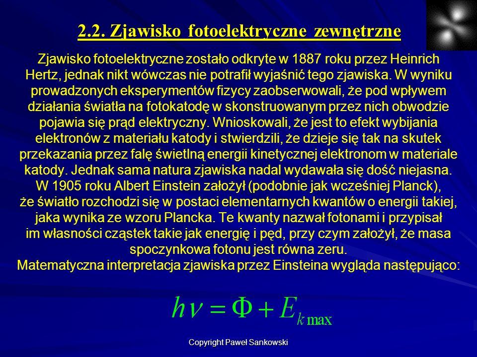 2.2. Zjawisko fotoelektryczne zewnętrzne