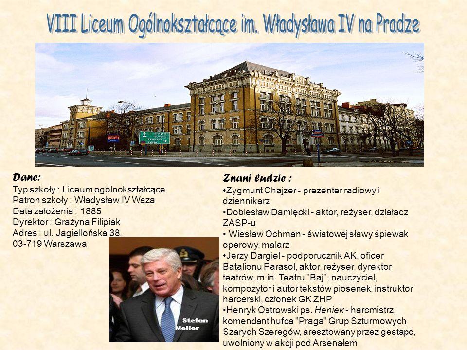 VIII Liceum Ogólnokształcące im. Władysława IV na Pradze