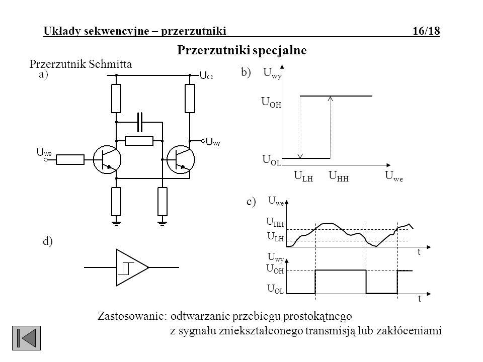 Układy sekwencyjne – przerzutniki 16/18 Przerzutniki specjalne
