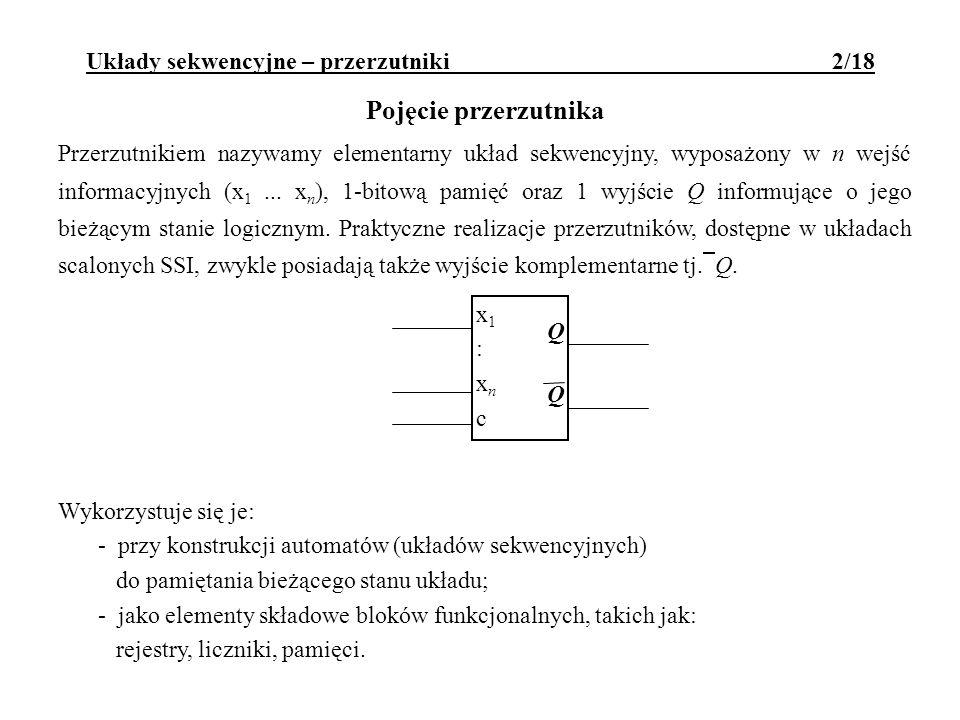 Układy sekwencyjne – przerzutniki 2/18