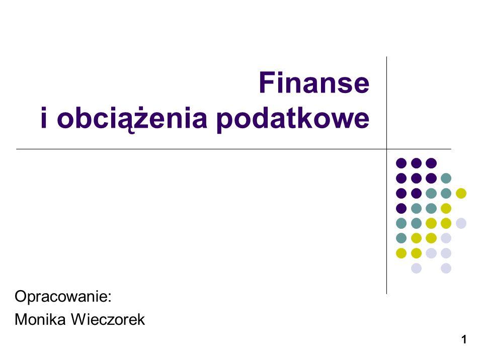 Finanse i obciążenia podatkowe