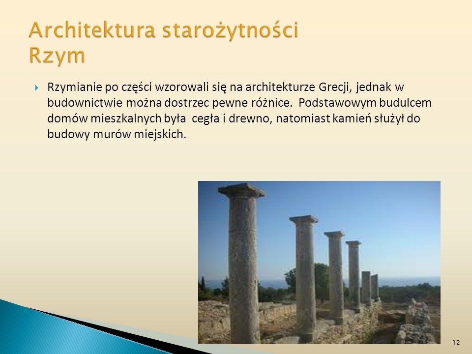 Architektura starożytności Rzym