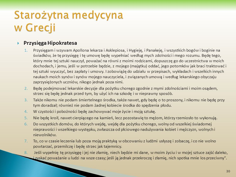 Starożytna medycyna w Grecji