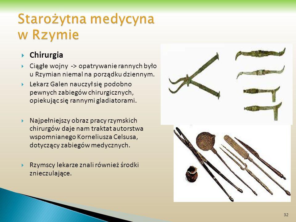Starożytna medycyna w Rzymie