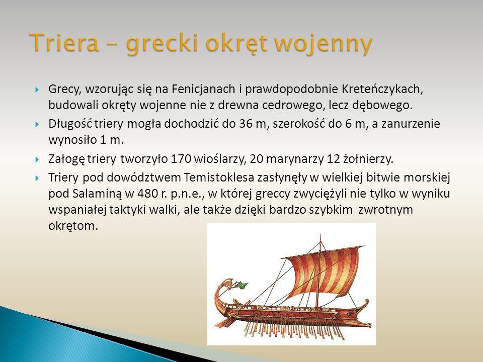 Triera – grecki okręt wojenny