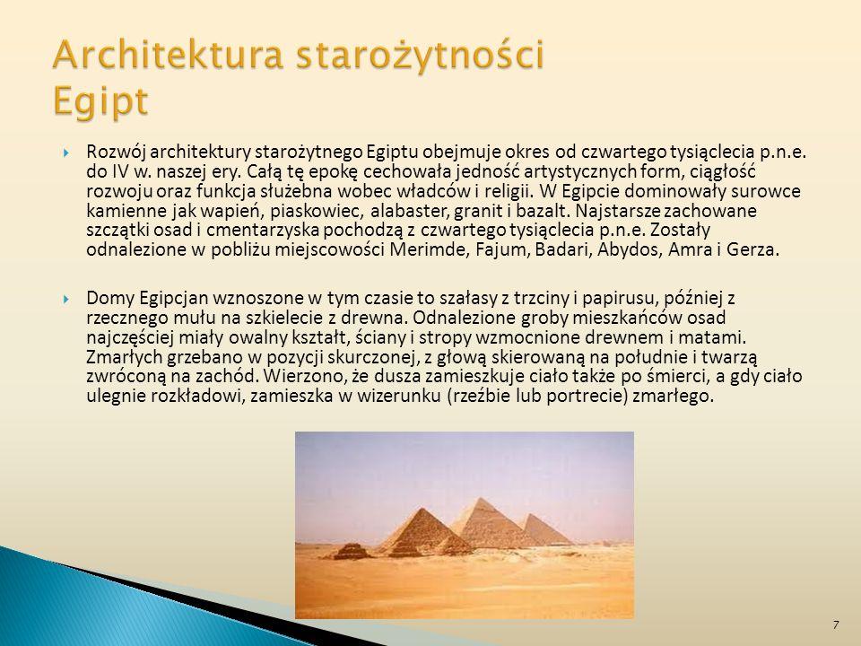 Architektura starożytności Egipt