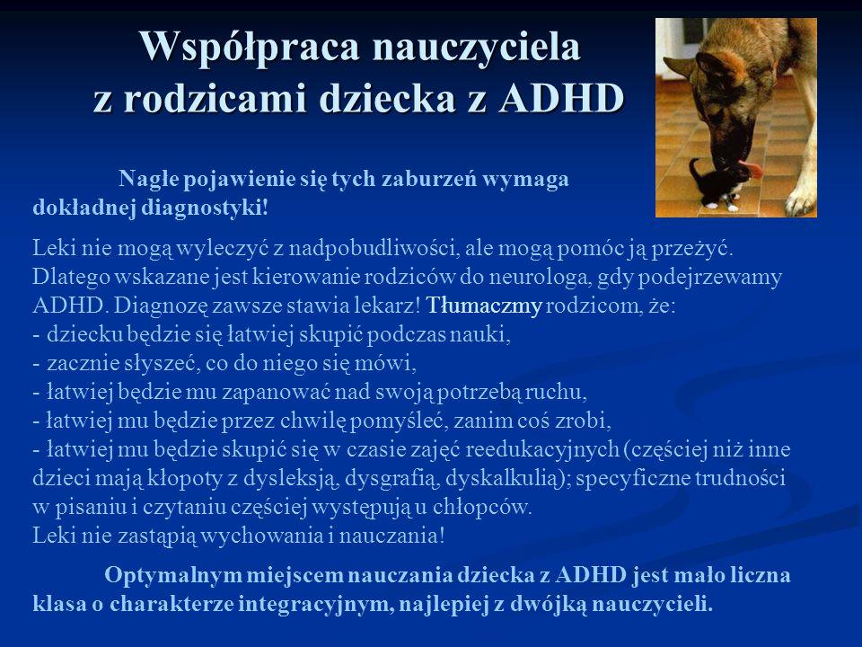 Współpraca nauczyciela z rodzicami dziecka z ADHD