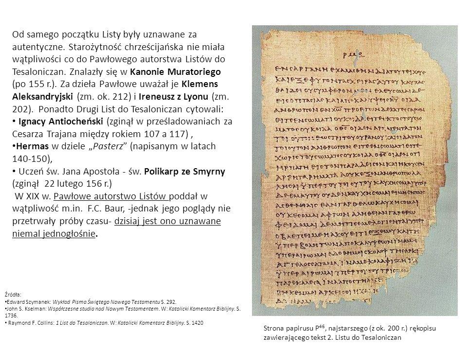"""Hermas w dziele """"Pasterz (napisanym w latach 140-150),"""