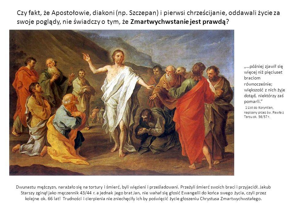Czy fakt, że Apostołowie, diakoni (np