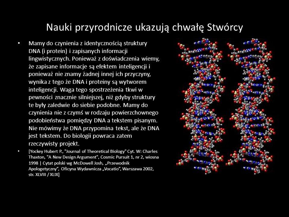Nauki przyrodnicze ukazują chwałę Stwórcy