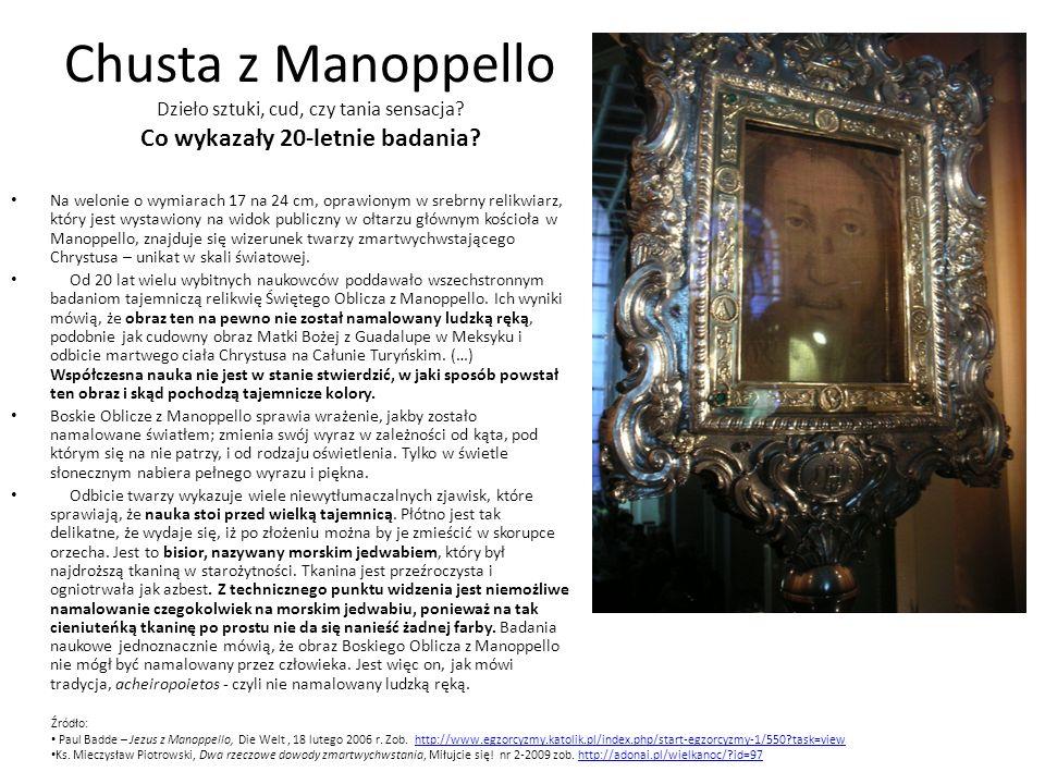 Chusta z Manoppello Dzieło sztuki, cud, czy tania sensacja