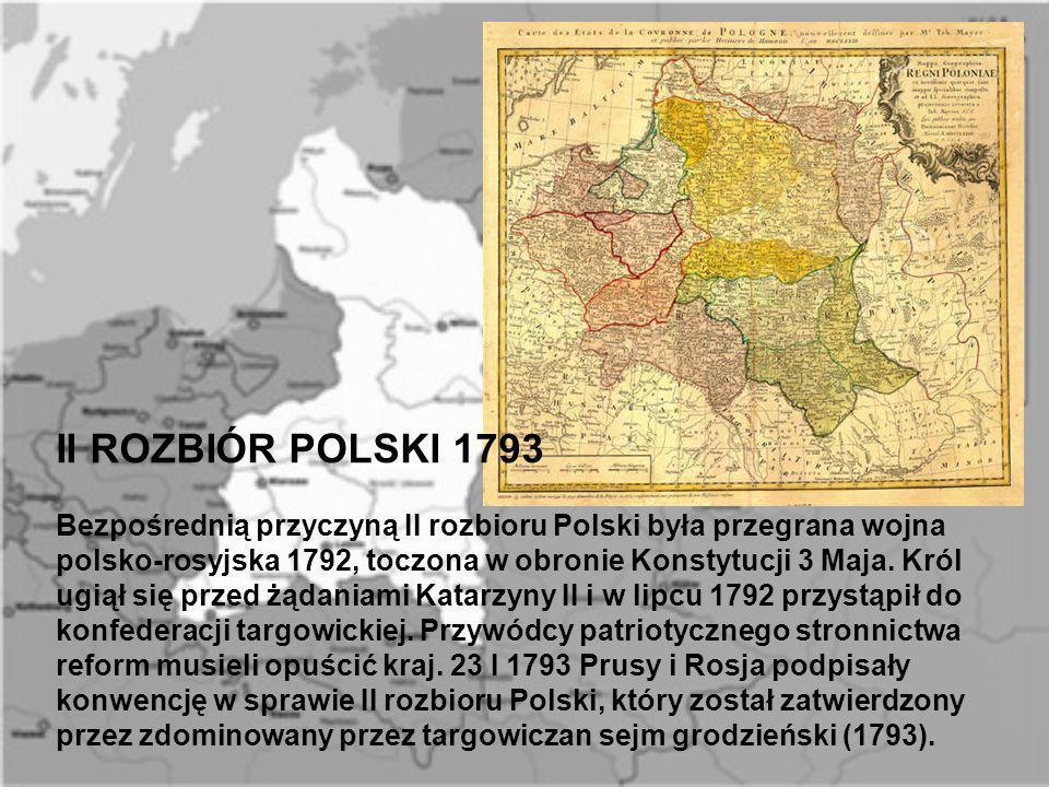 II ROZBIÓR POLSKI 1793