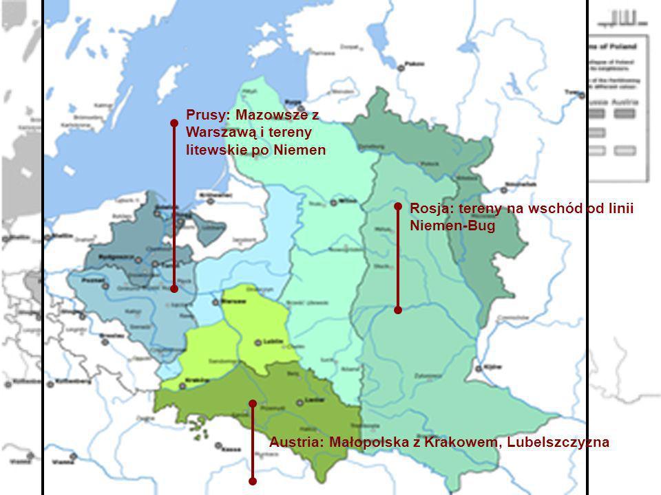 Prusy: Mazowsze z Warszawą i tereny litewskie po Niemen
