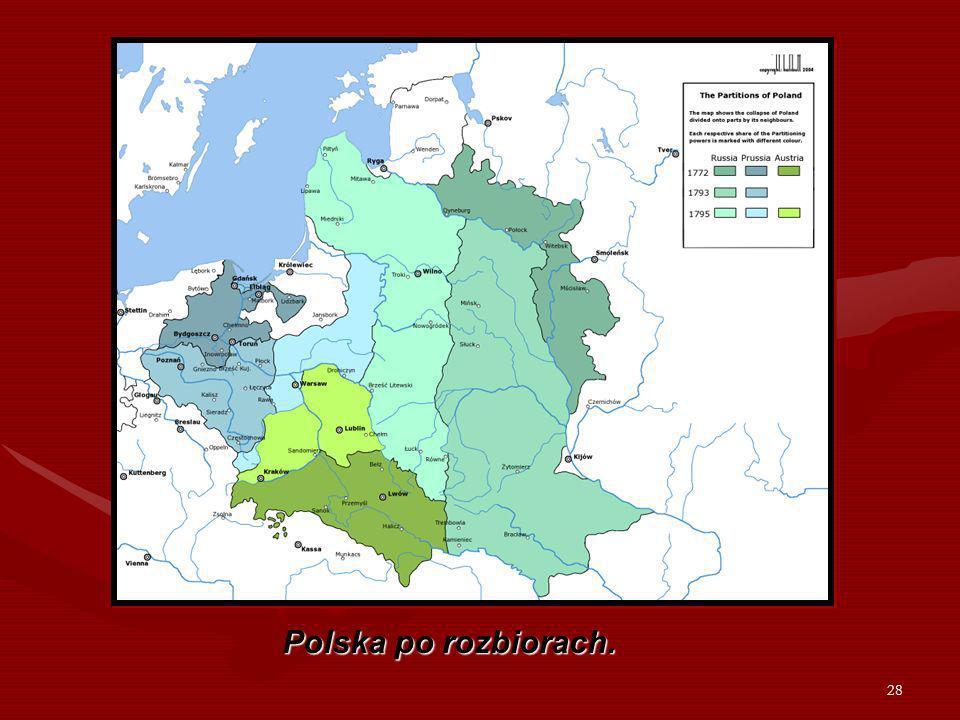 Polska po rozbiorach.