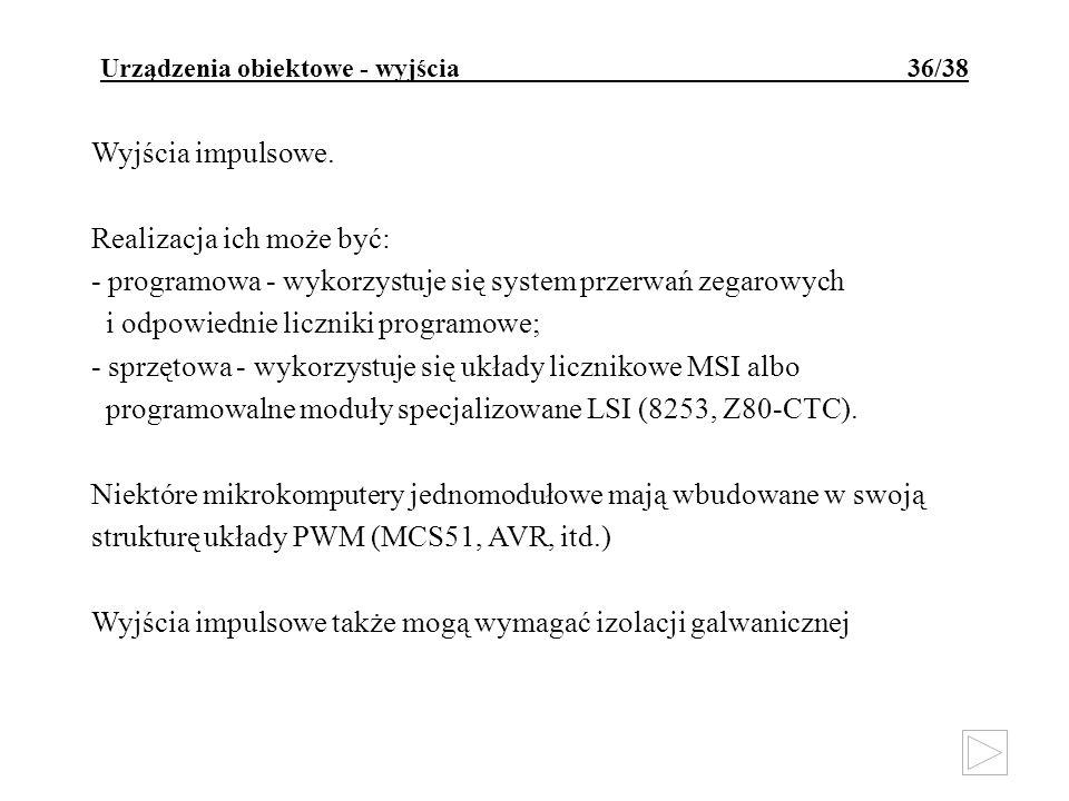 Urządzenia obiektowe - wyjścia 36/38