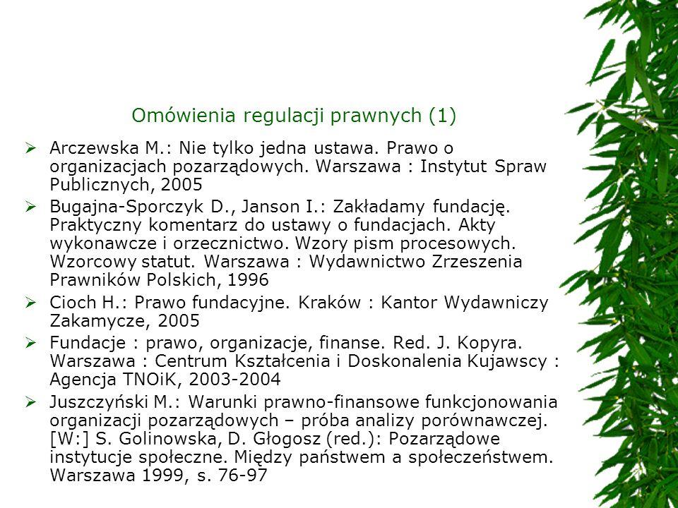 Omówienia regulacji prawnych (1)