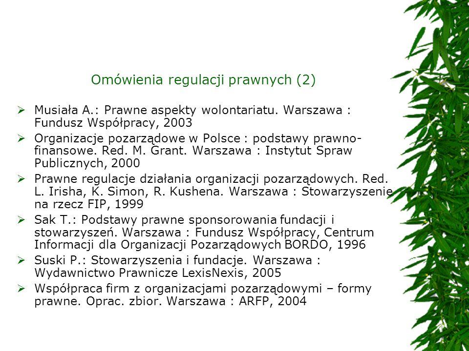 Omówienia regulacji prawnych (2)