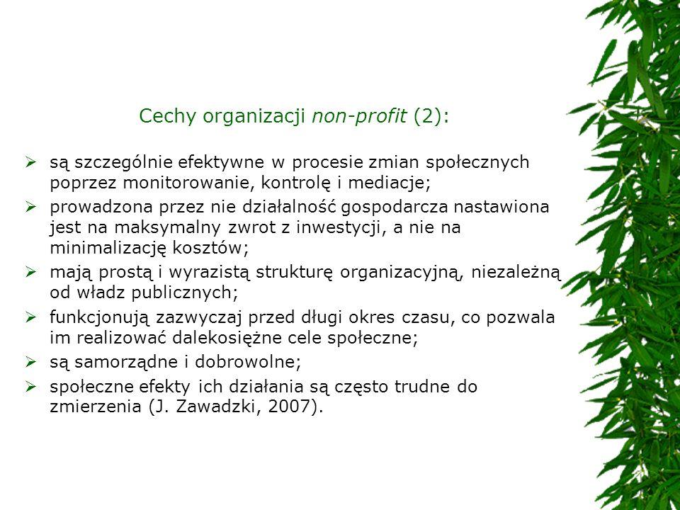 Cechy organizacji non-profit (2):