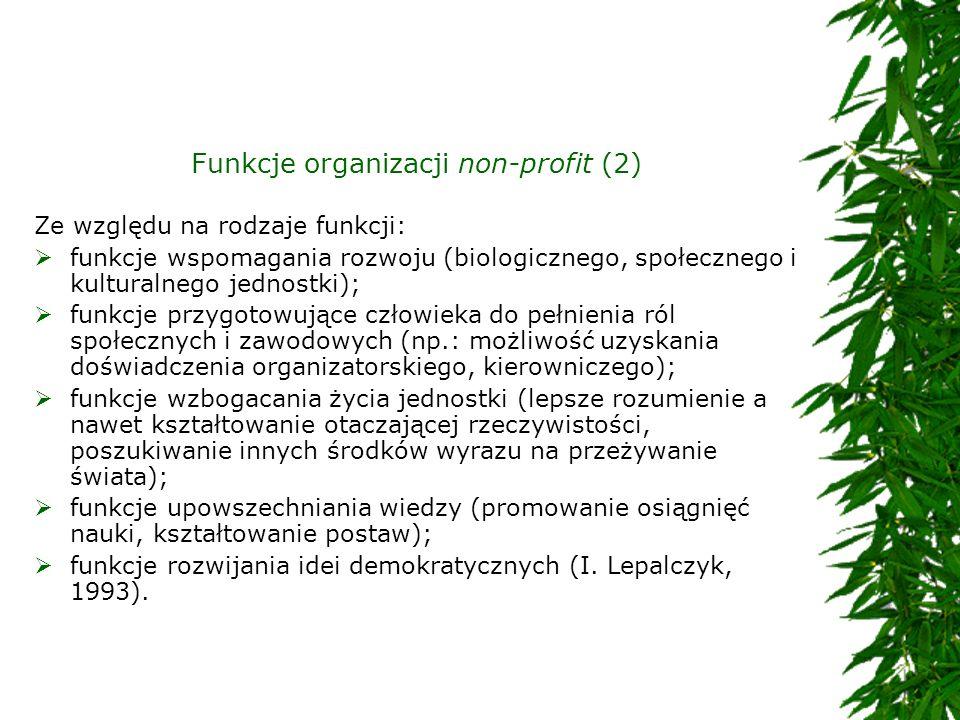 Funkcje organizacji non-profit (2)