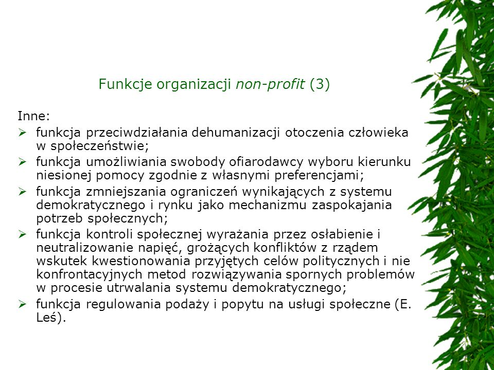 Funkcje organizacji non-profit (3)