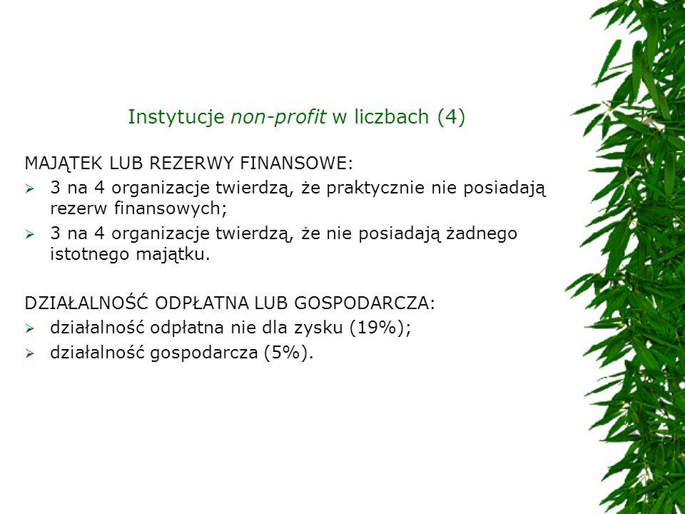 Instytucje non-profit w liczbach (4)