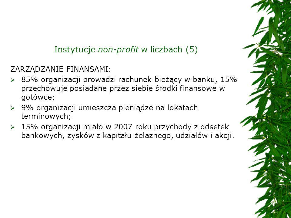Instytucje non-profit w liczbach (5)