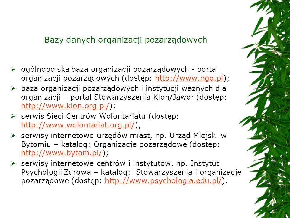 Bazy danych organizacji pozarządowych