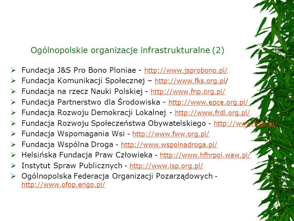 Ogólnopolskie organizacje infrastrukturalne (2)