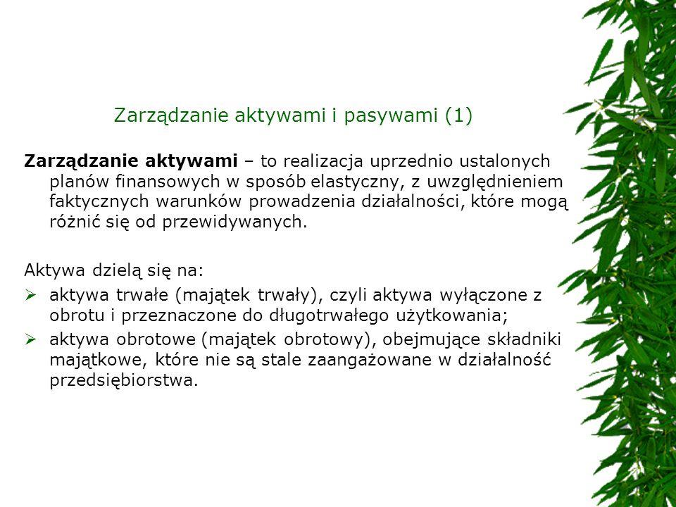 Zarządzanie aktywami i pasywami (1)