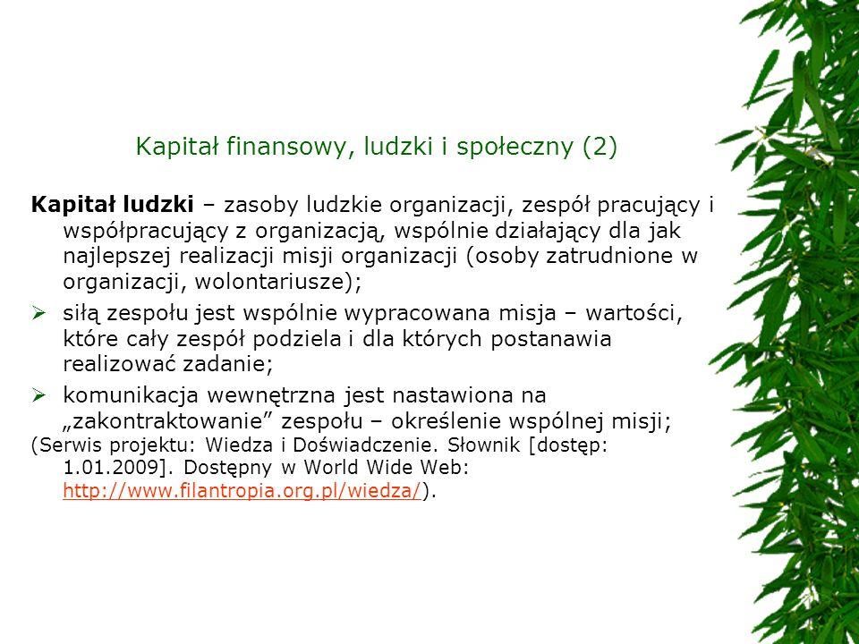 Kapitał finansowy, ludzki i społeczny (2)