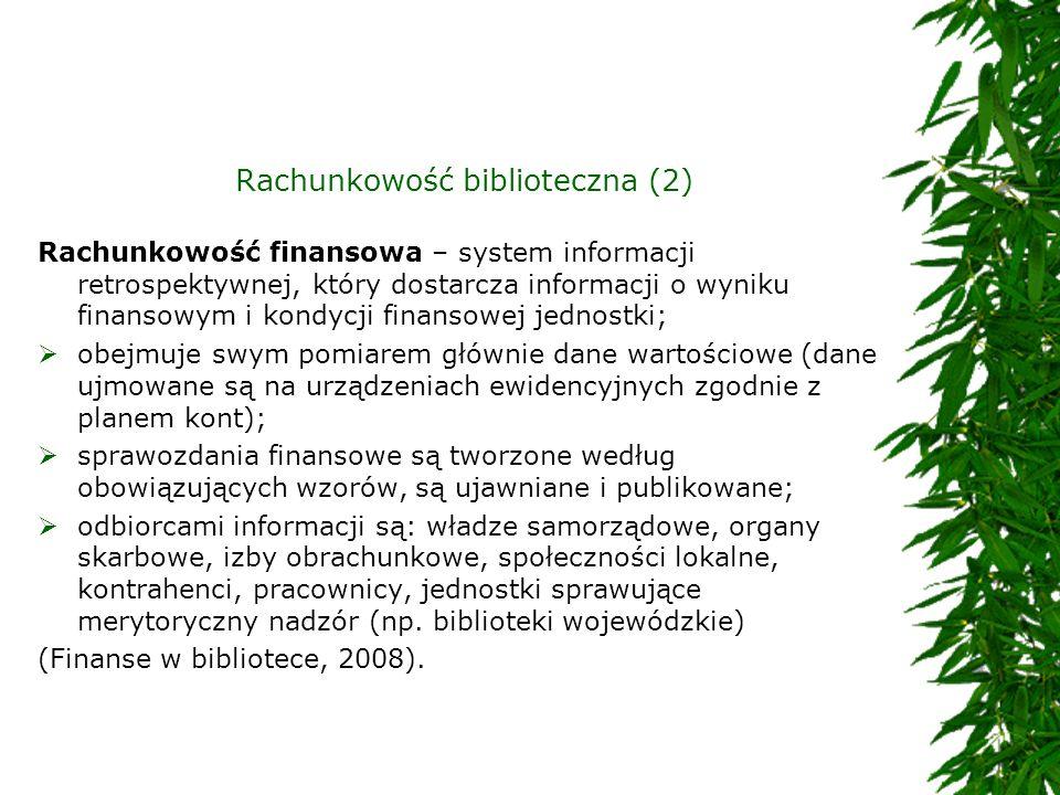 Rachunkowość biblioteczna (2)