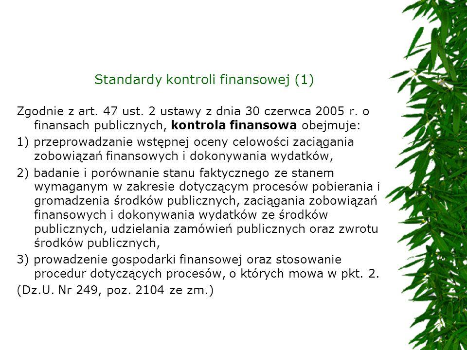 Standardy kontroli finansowej (1)
