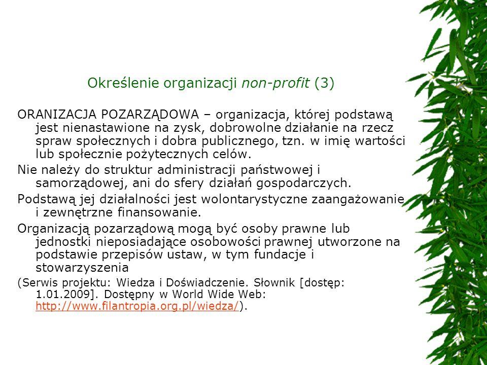 Określenie organizacji non-profit (3)