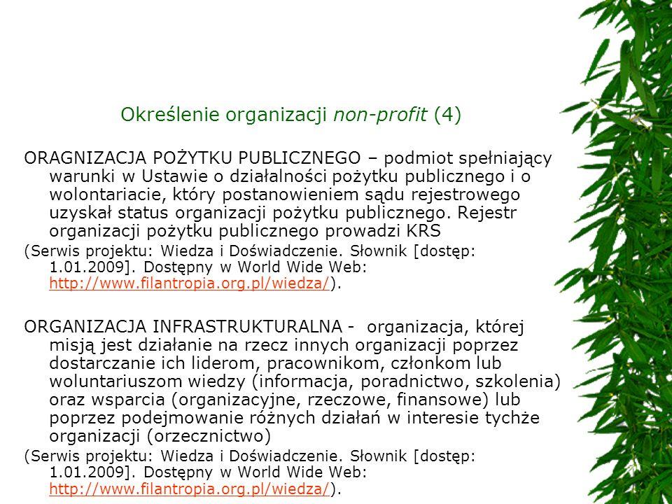 Określenie organizacji non-profit (4)