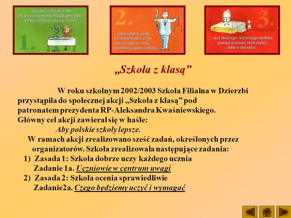 W roku szkolnym 2002/2003 Szkoła Filialna w Dzierzbi