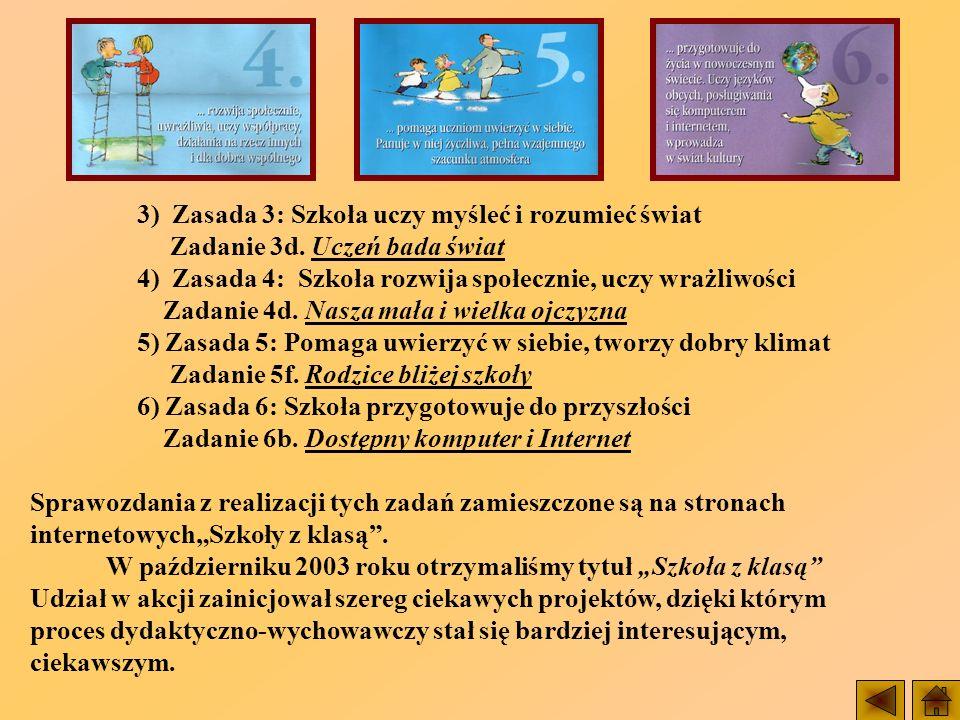 3) Zasada 3: Szkoła uczy myśleć i rozumieć świat