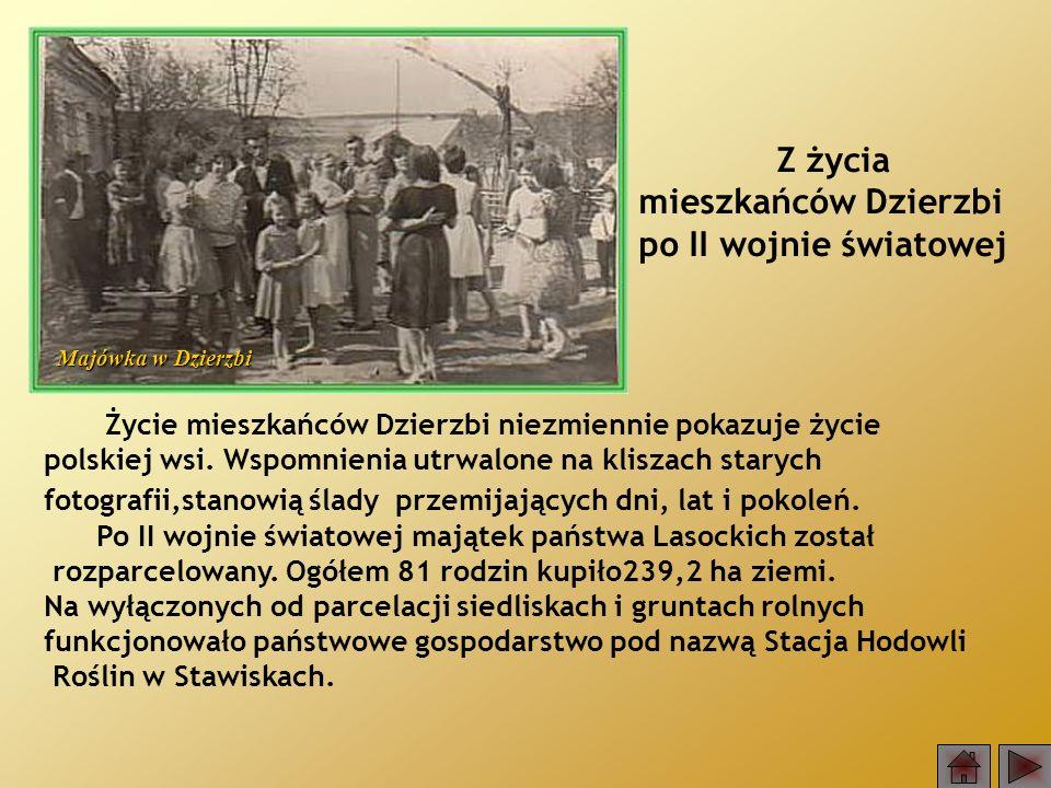 Z życia mieszkańców Dzierzbi po II wojnie światowej