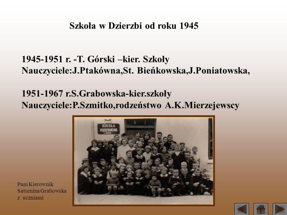 Szkoła w Dzierzbi od roku 1945