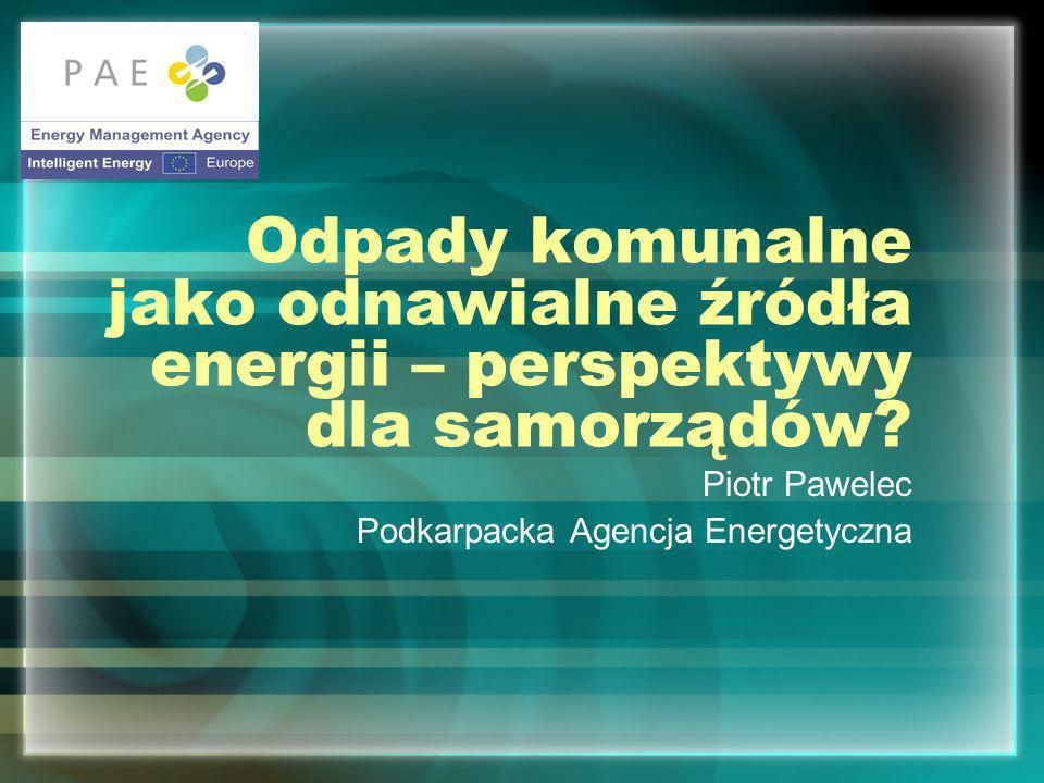 Piotr Pawelec Podkarpacka Agencja Energetyczna