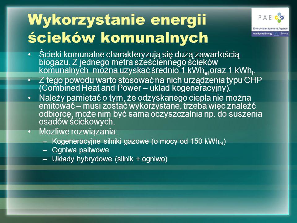 Wykorzystanie energii ścieków komunalnych
