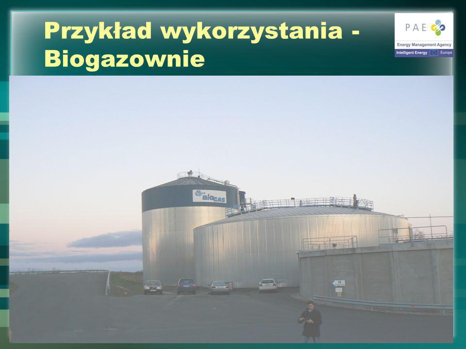 Przykład wykorzystania - Biogazownie