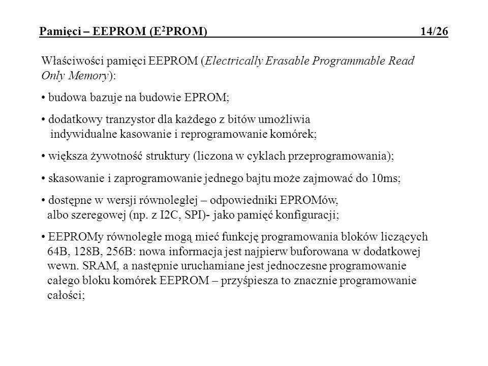 Pamięci – EEPROM (E2PROM) 14/26