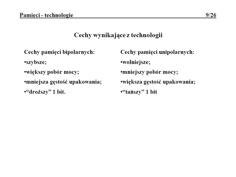 Pamięci - technologie 9/26