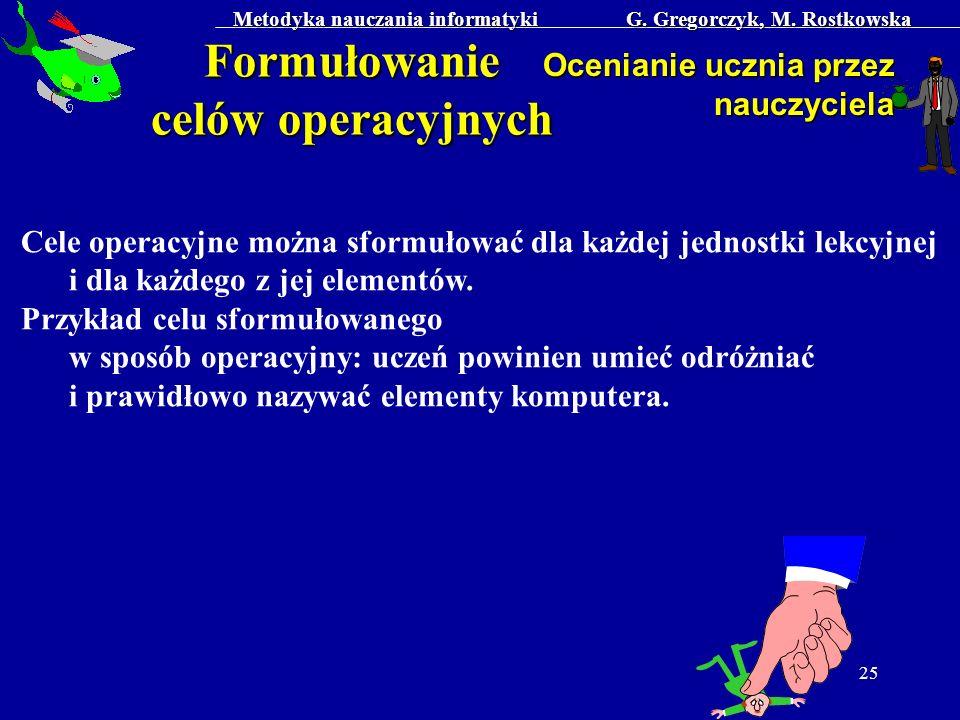 Formułowanie celów operacyjnych